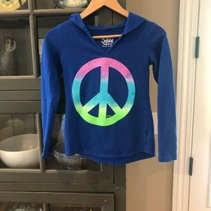 Justice peace pullover hoodie